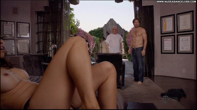 Jenny Lin Californication Celebrity Sultry Sexy Asian Posing Hot