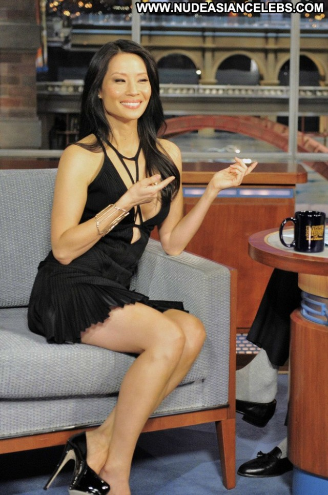 Lucy Liu Late Show With David Letterman Small Tits Doll Asian Posing