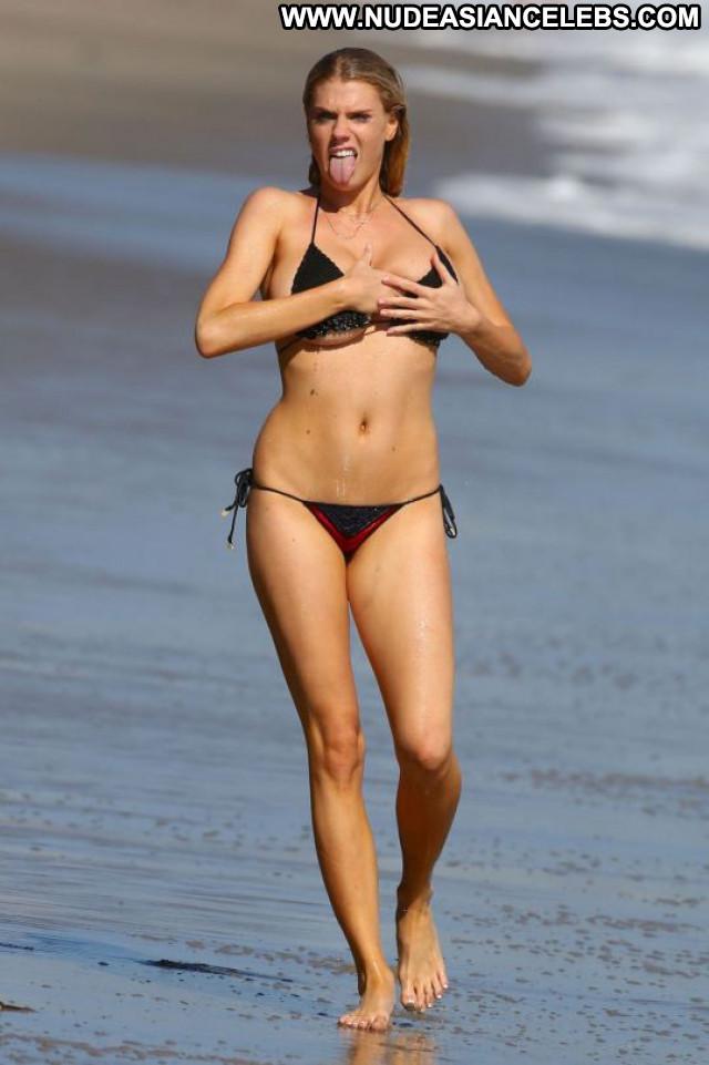 Charlotte Mckinney No Source Celebrity Black Candids Sexy Bikini Babe