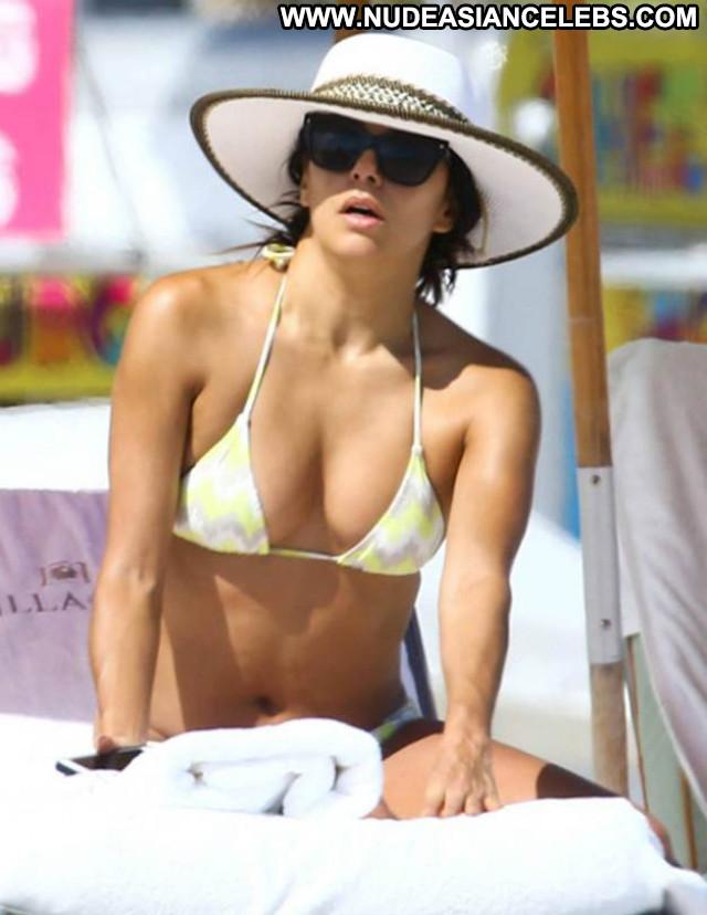 Eva Longoria No Source Posing Hot Babe Celebrity Bikini Candids