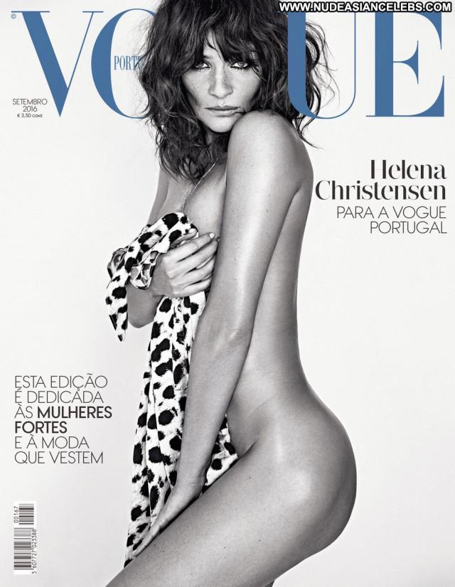 Helena Christensen Vogue Magazine Beautiful Sexy Babe Danish