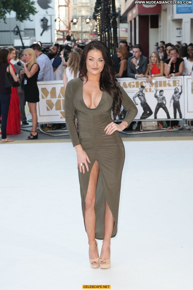 Jess Impiazzi Magic Mike Beautiful Babe Cleavage Posing Hot Celebrity