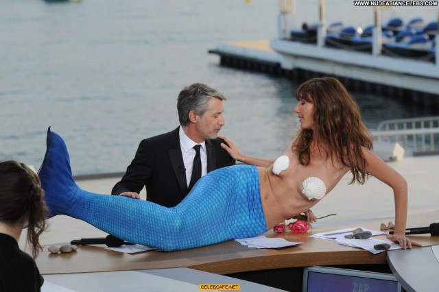 Doria Tillier Cannes Film Festival Babe Celebrity Posing Hot Topless
