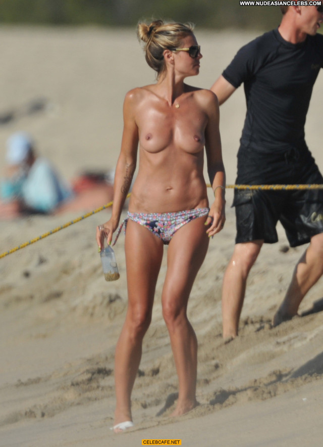 Heidi Klum No Source Topless Posing Hot Beach Toples Beautiful Babe
