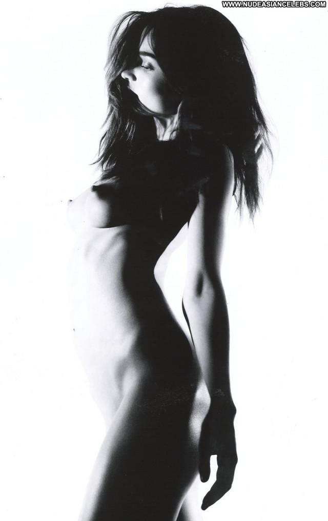 Miranda Kerr Black And White  Bar Breasts Big Tits Slender Magazine