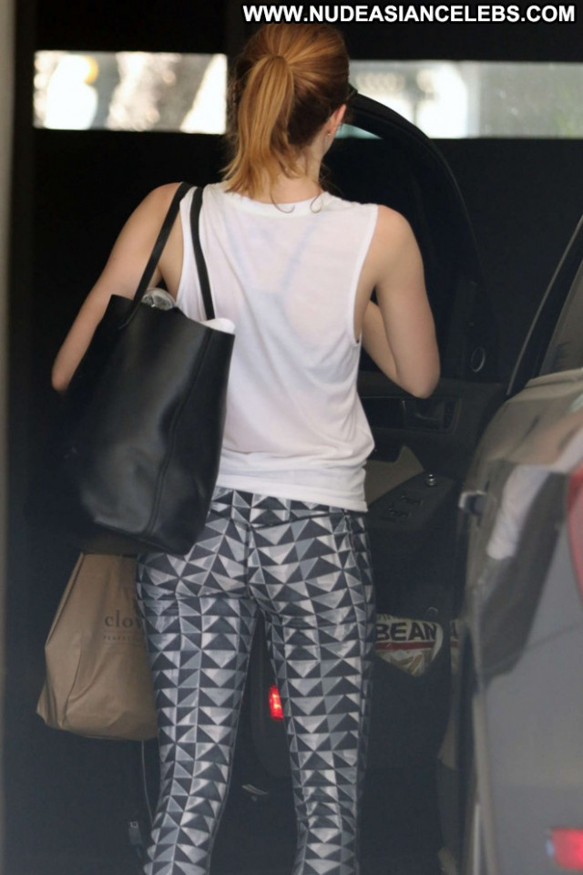 Emma Stone West Hollywood West Hollywood Posing Hot Gym Beautiful