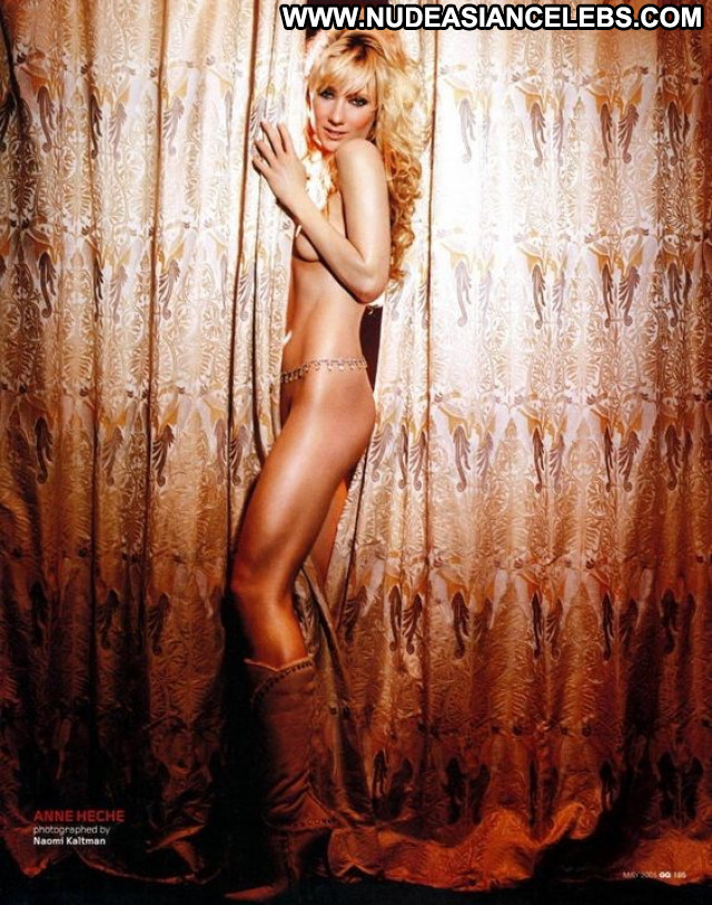 Anne Heche Perfect Beautiful Bar Bra Famous Posing Hot Hollywood Live