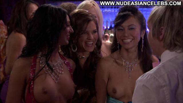 Christine Nguyen Party Down Skinny Posing Hot Celebrity Brunette