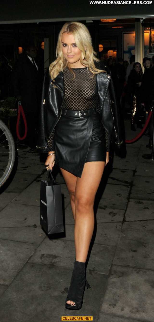 Tallia Storm No Source Leather Celebrity Babe See Through Posing Hot
