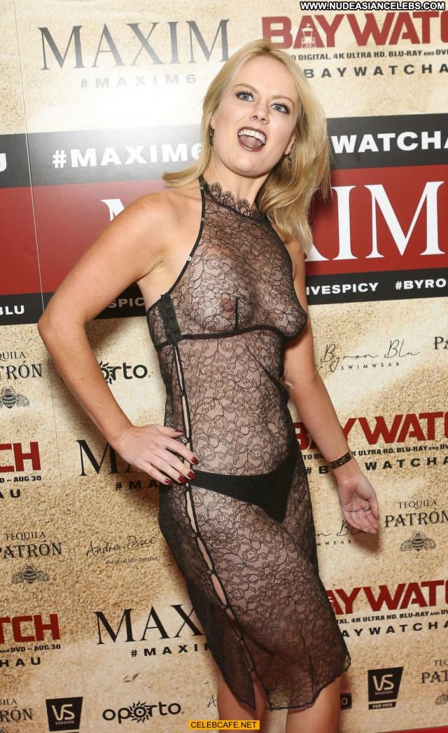 Alana Wolfe Maxim Magazine See Through Celebrity Party Magazine