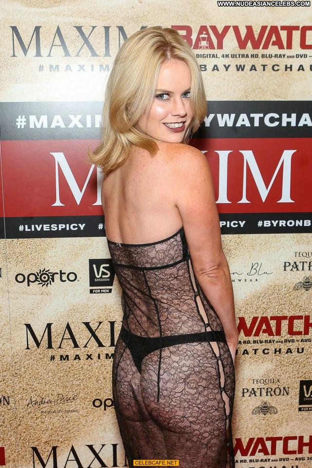 Alana Wolfe Maxim Magazine Celebrity Posing Hot Magazine See Through