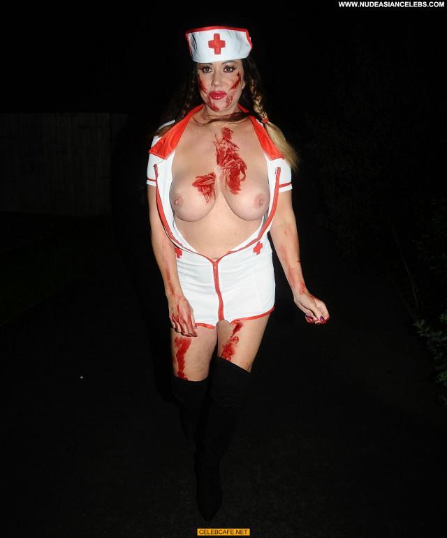 Lisa Appleton Halloween Party Nurse Halloween Celebrity Party Boobs