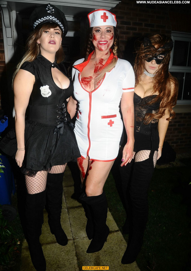 Lisa Appleton Halloween Party Big Tits Boobs Celebrity Nude Party