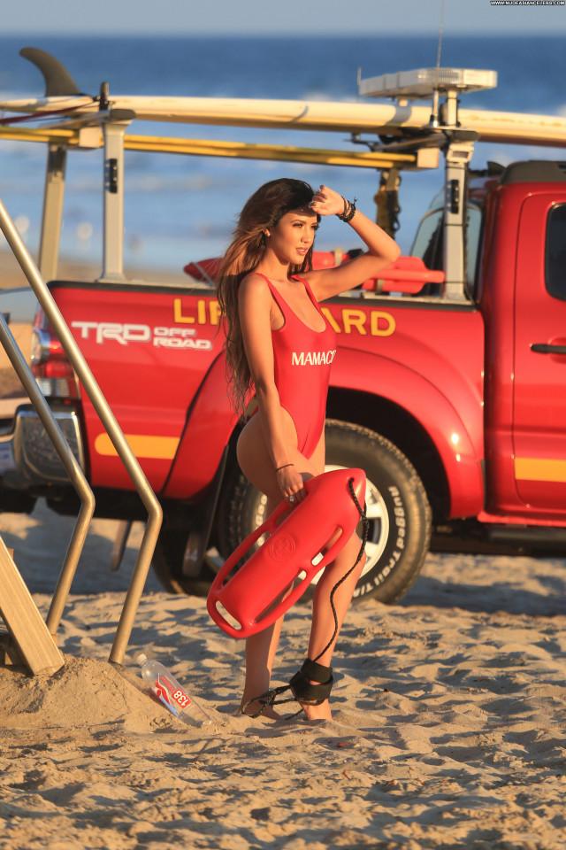 Angela Rei The Beach In Malibu  Singer Malibu Bra Legs Beautiful Nyc