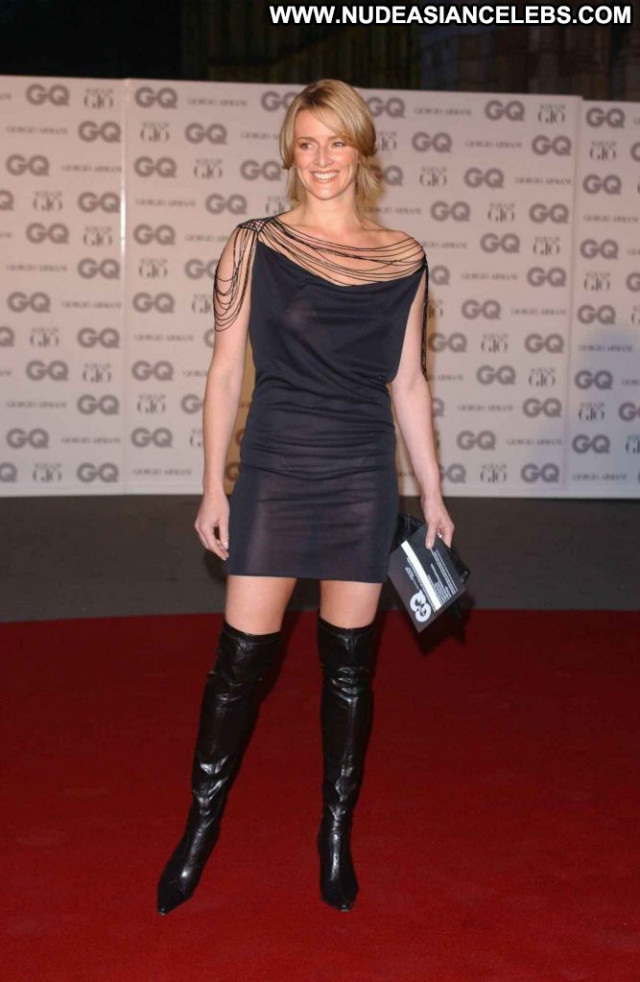 Gabby Logan Gq Men Of The Year Awards In Bar Nyc Topless Sexy Live