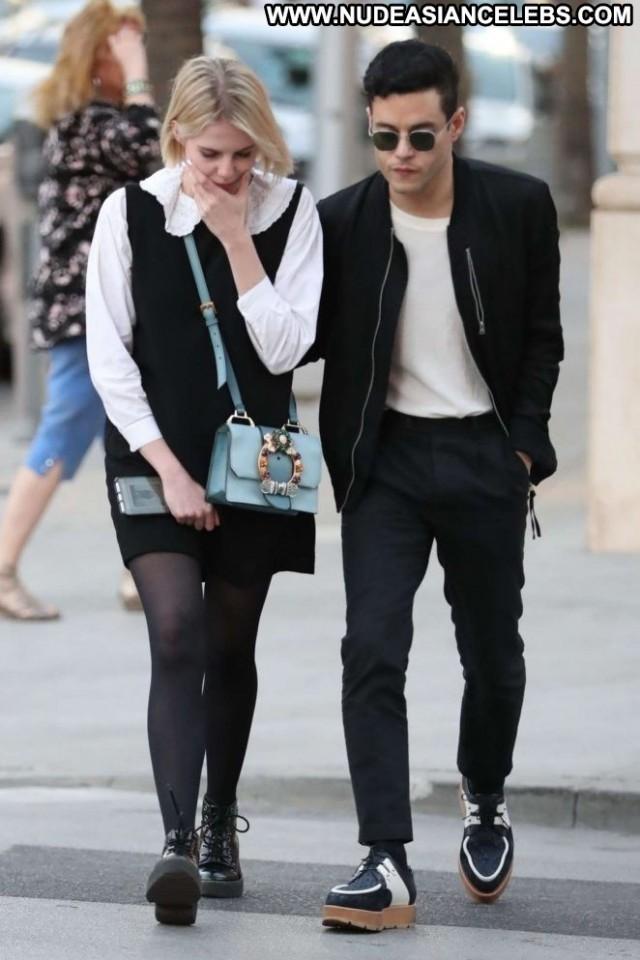Lucy Boynton Beverly Hills Beautiful Posing Hot Boyfriend Celebrity