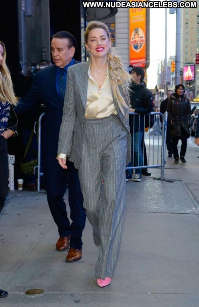 Amber Heard Good Morning America Posing Hot Paparazzi Nyc Celebrity