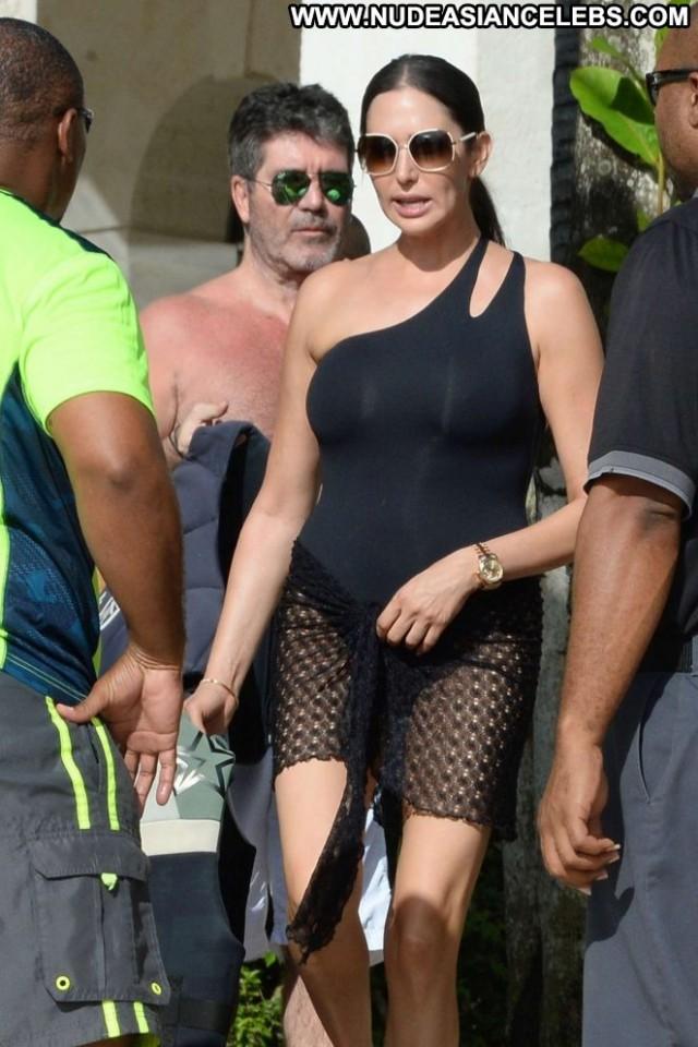 Lauren Silverman No Source Celebrity Swimsuit Babe Beach Black