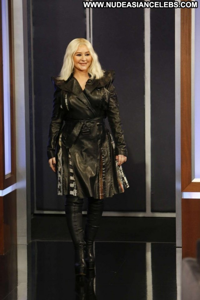 Christina Aguilera Jimmy Kimmel Live Celebrity Angel Beautiful Babe
